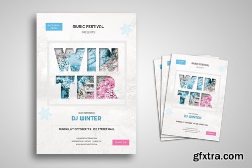 Winter Party Flyer Promo Template