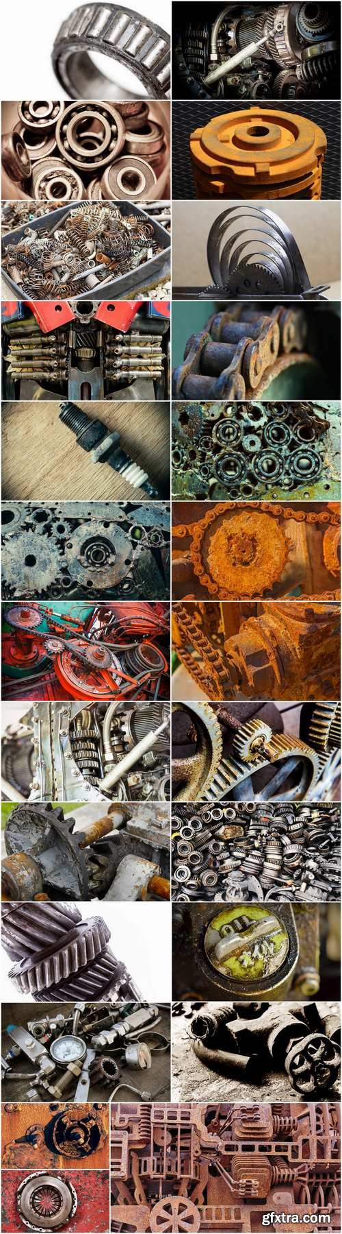 Vintage gear with rust 25 HQ Jpeg