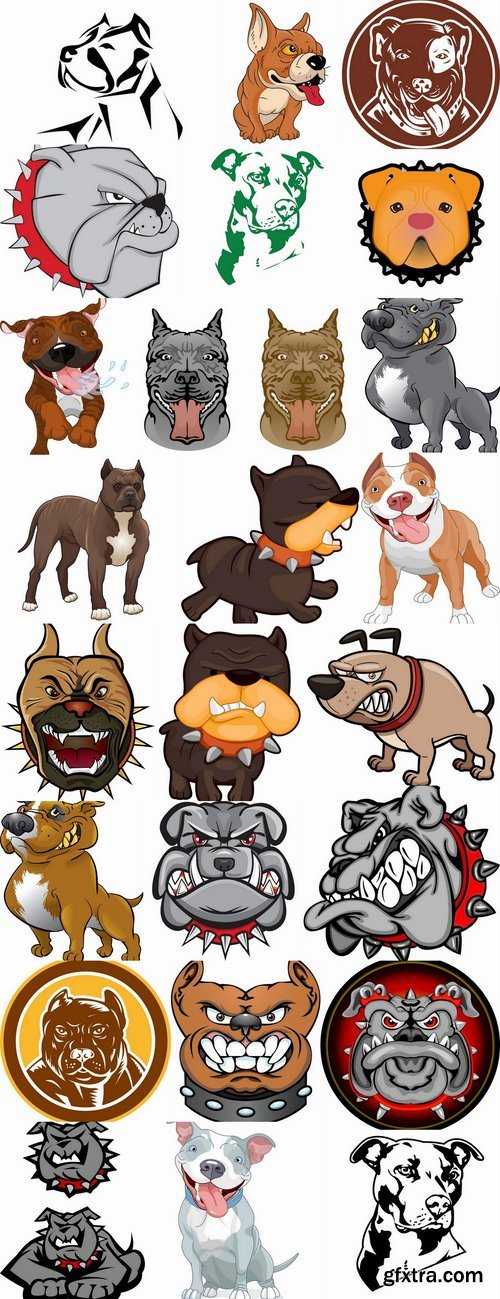 Vector images pitbull 25 Eps