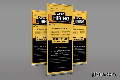 Job Vacancy Roll Up Banner
