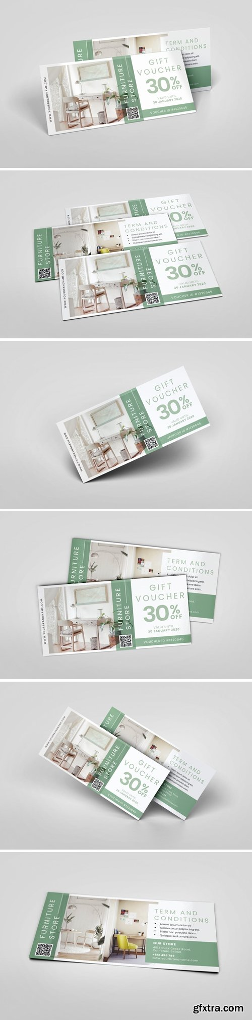 Furniture Store AI and PSD Gift Voucher Template