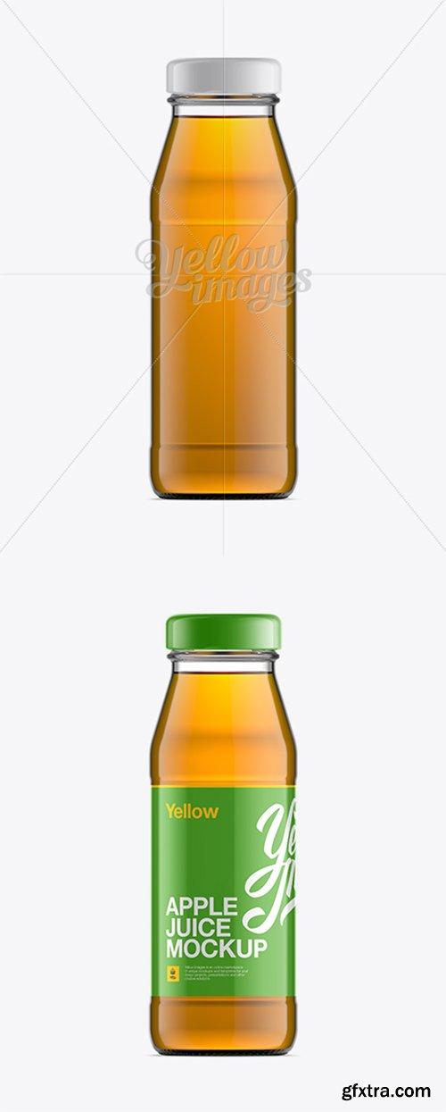 Clear Bottle W/ Apple Juice Mockup 11177