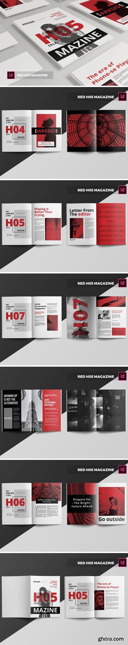 Red H05   Magazine Template