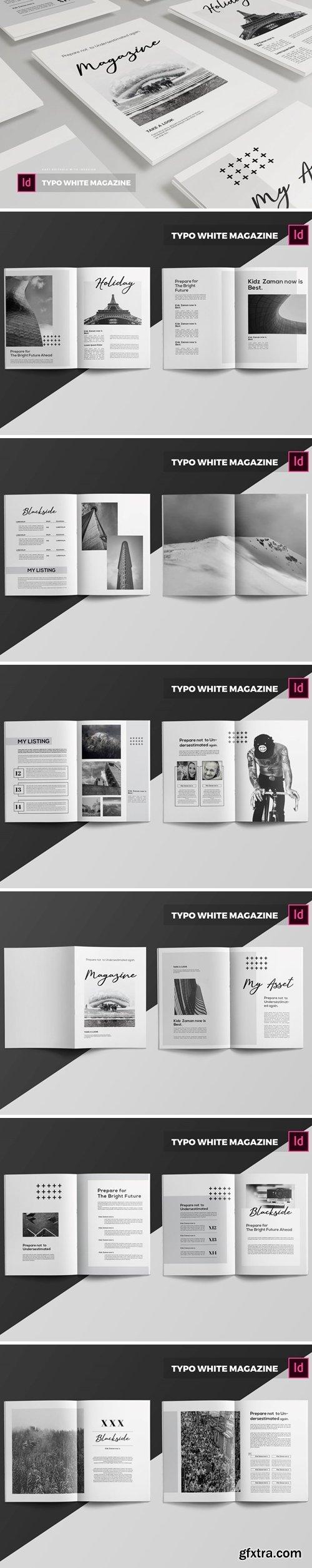 Typo White   Magazine Template