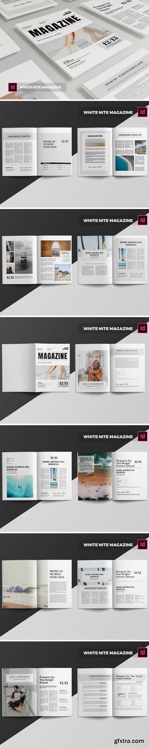 White Nite   Magazine Template