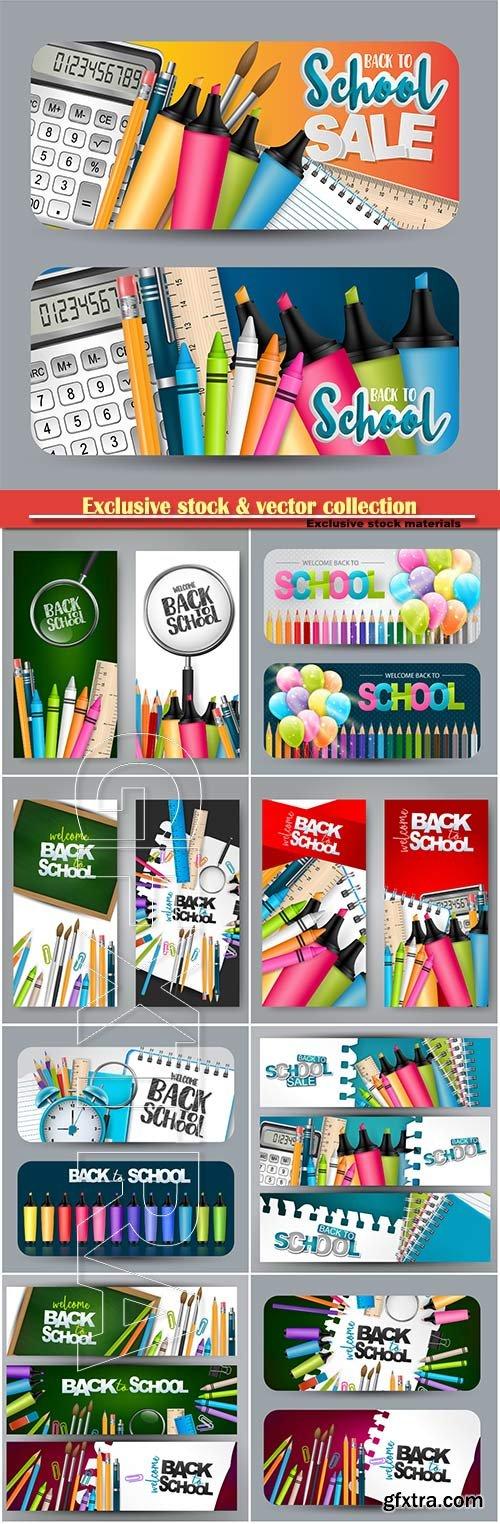 Back to school design vector, education concept illustration # 2