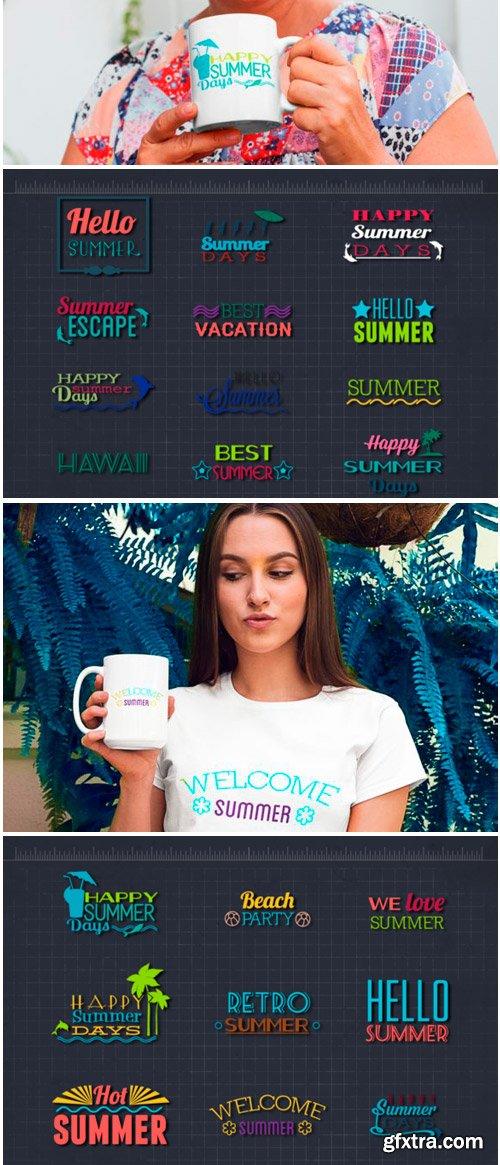 Summer & Beach Quotes Bundle 1609783