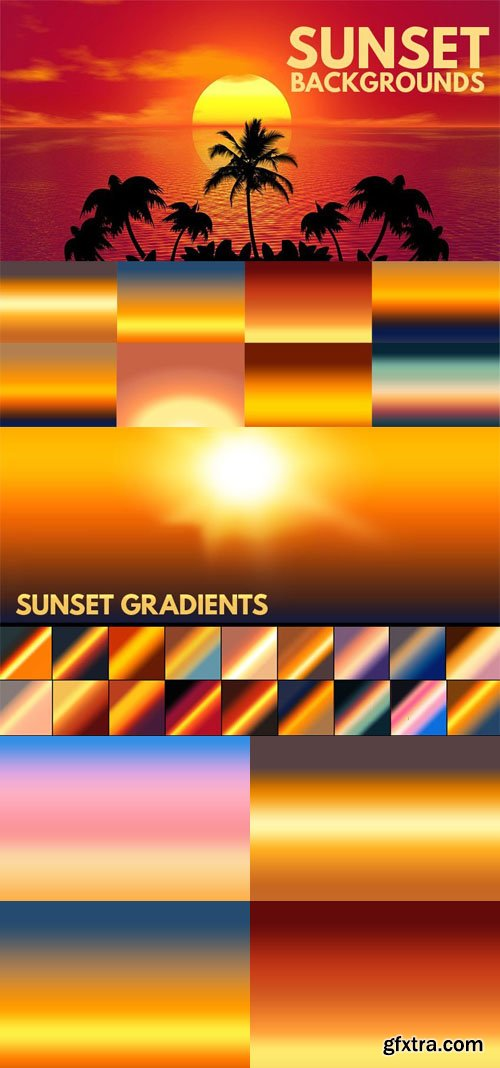 20 Sunset Gradients for Photoshop