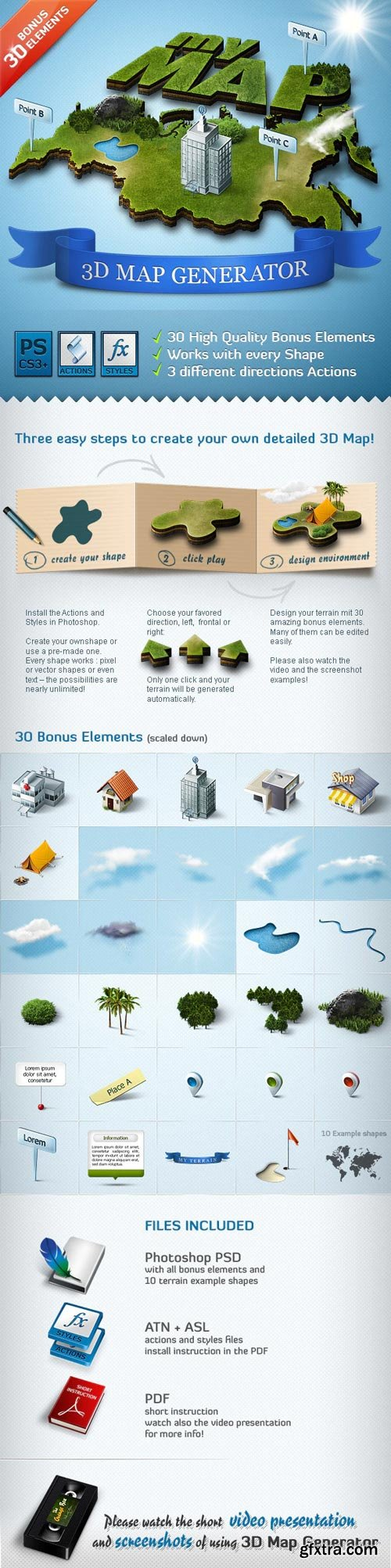 GraphicRiver - 3D Map Generator - Action - 308808
