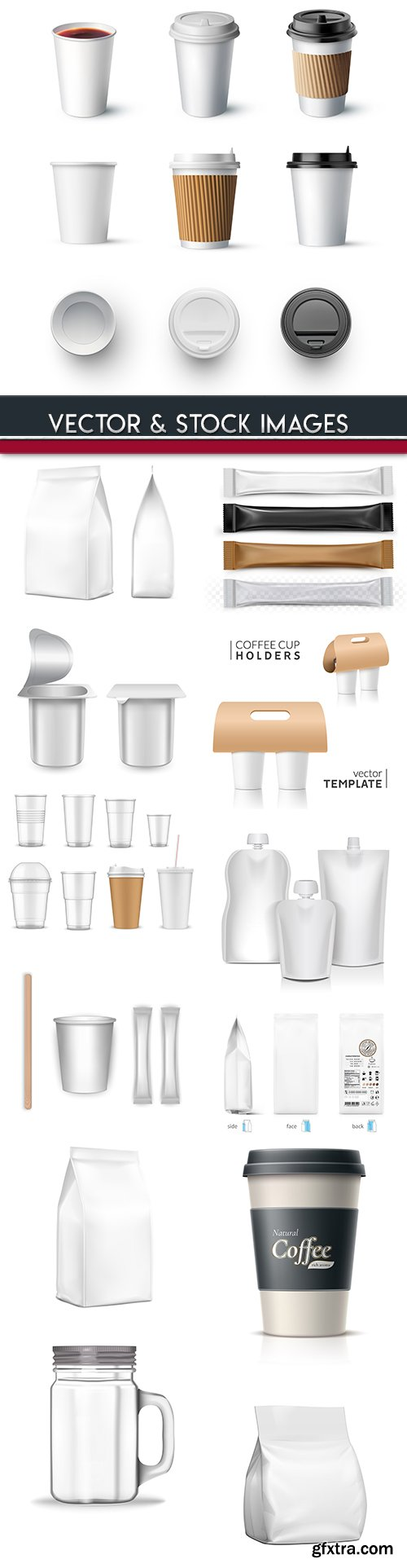 Container plastic cup and packing 3d design