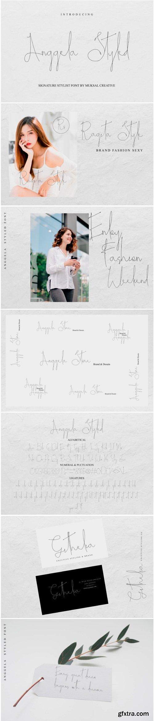 Anggela Styled Font
