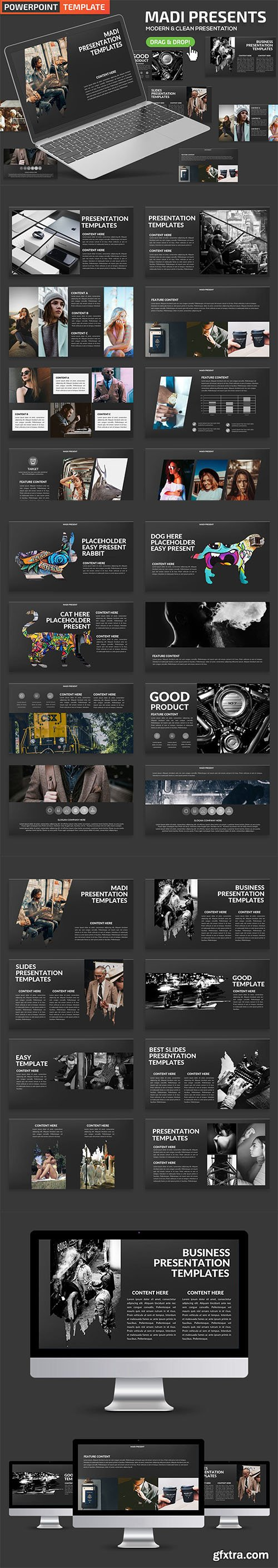 Madi Powerpoint and Keynote Template