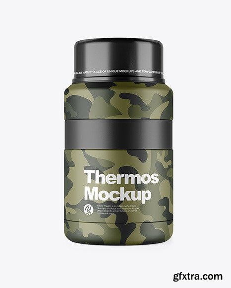 Matte Thermos Mockup 46525
