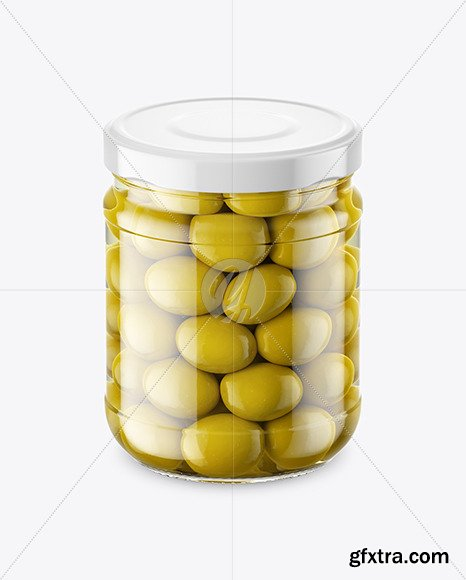 Clear Glass Jar with Olives Mockup 46542