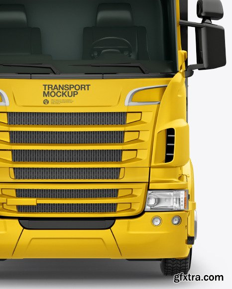 Truck Mockup - Front View 46536