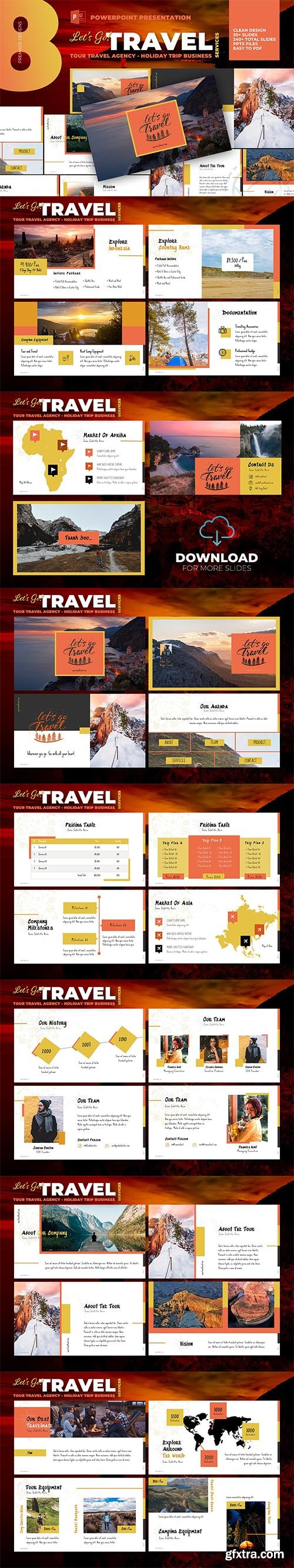 Tour Travel Agency Powepoint Template