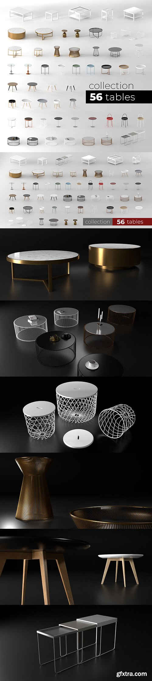 Cgtrader - Tables collection 3D model