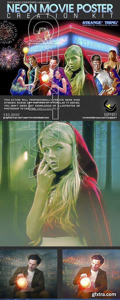 GraphicRiver - Neon Movie Poster Kit 24122920
