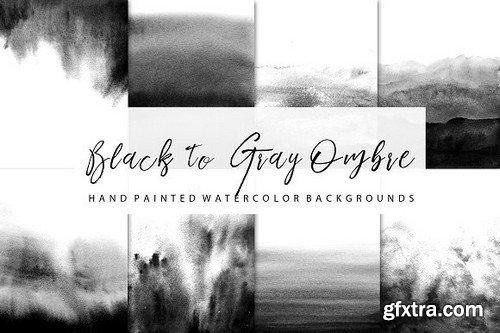 Black Ombre Watercolor