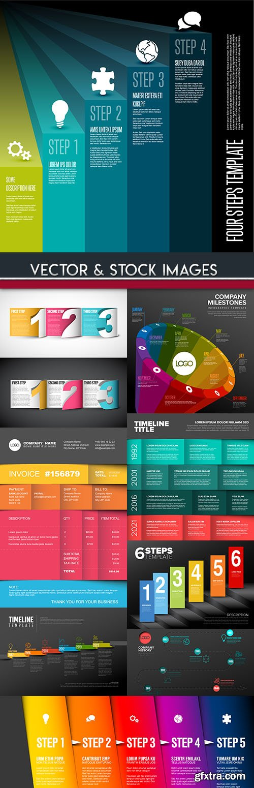 Business infographics options elements collection 79