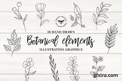 Botanical Elements Vector