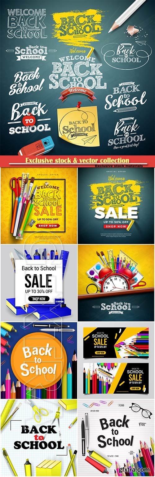 Back to school design vector, education concept illustration