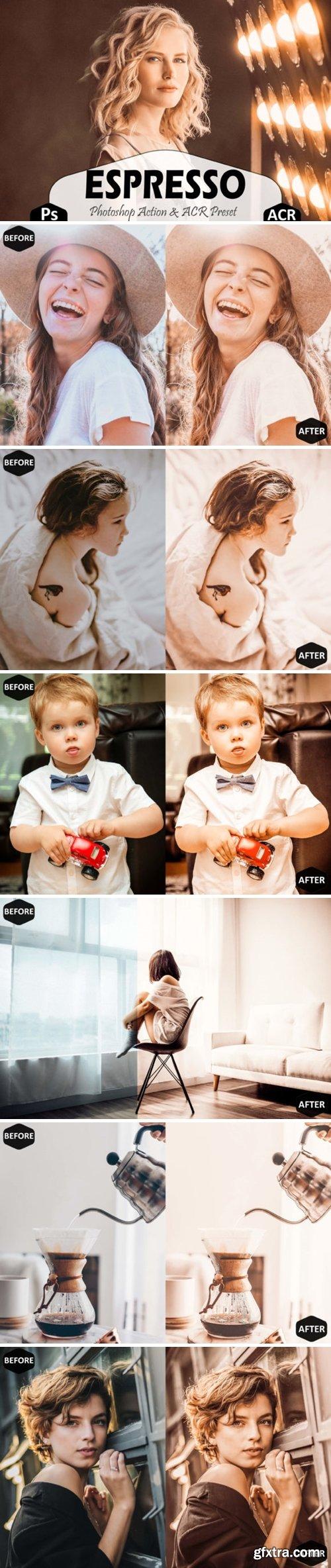 Espresso Photoshop Actions, ACR Presets 1659015