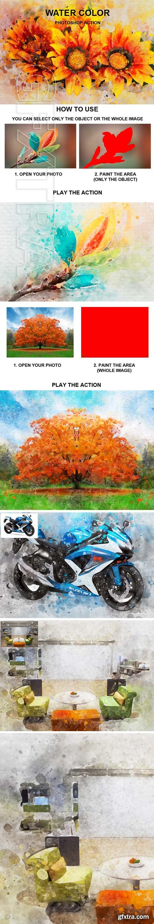 GraphicRiver - Water Color Photoshop Action 24119188