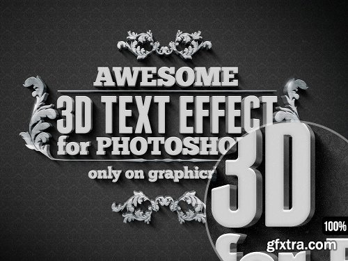 Graphicriver 15 Various 3D Text Effects for Photoshop - Pack 5912325
