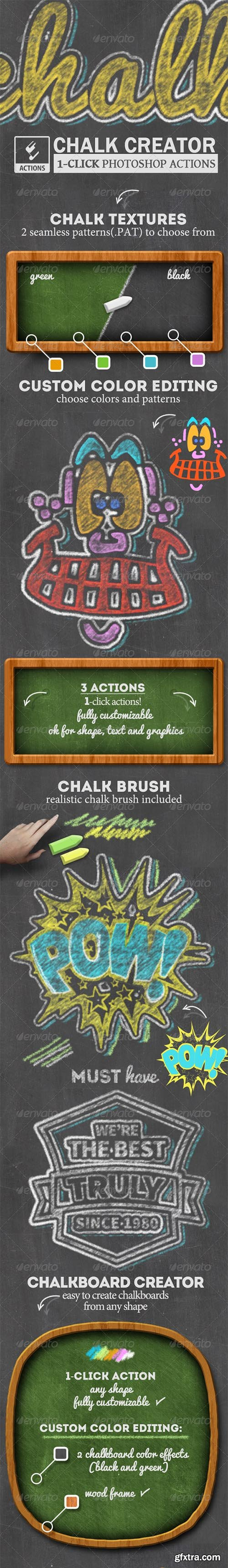 Graphicriver Chalk and Chalkboard Photoshop Creator 8174689