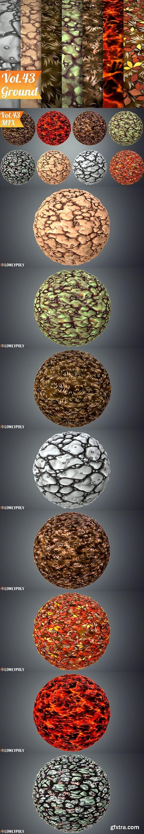 Cgtrader - Stylized Ground Vol 43 - Hand Painted Texture Pack Texture