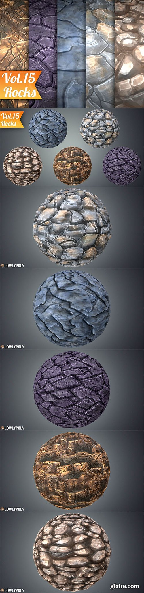 Cgtrader - Stylized Rocks Vol 15 - Hand Painted Texture Pack Texture