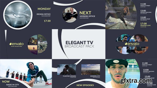 VideoHive Elegant TV - Business Broadcast Pack 17997456