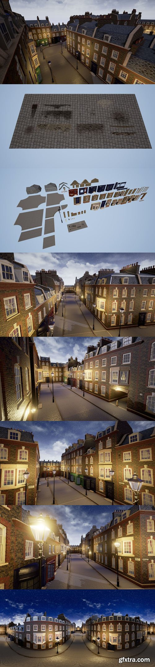 Cgtrader - London Street Environment Unreal Engine 4 Low-poly 3D model