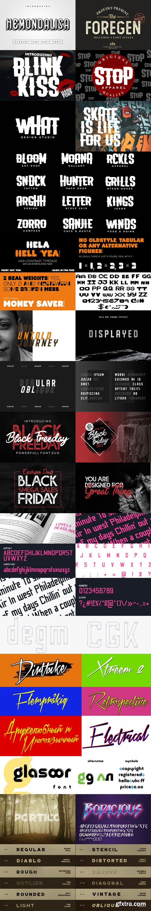 15 Amazing 90's Fonts Collection