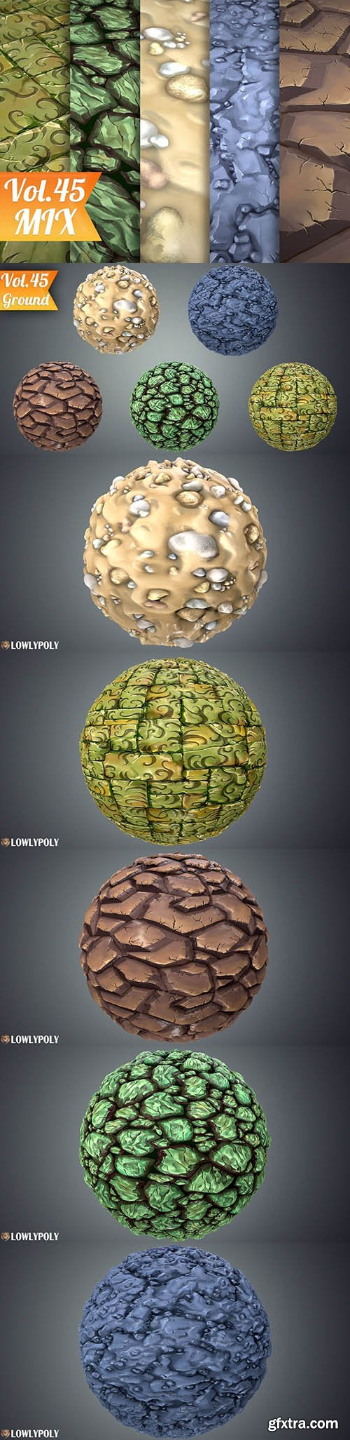 Cgtrader - Stylized Ground Vol 45 - Hand Painted Texture Pack Texture