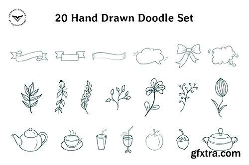 Hand Drawn Doodle Set