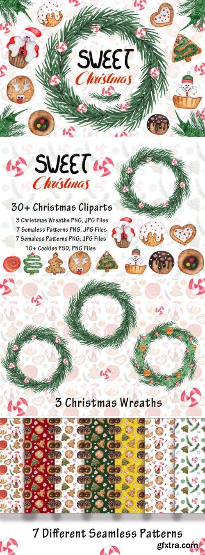 Watercolor Sweet Christmas Cookies 1667164