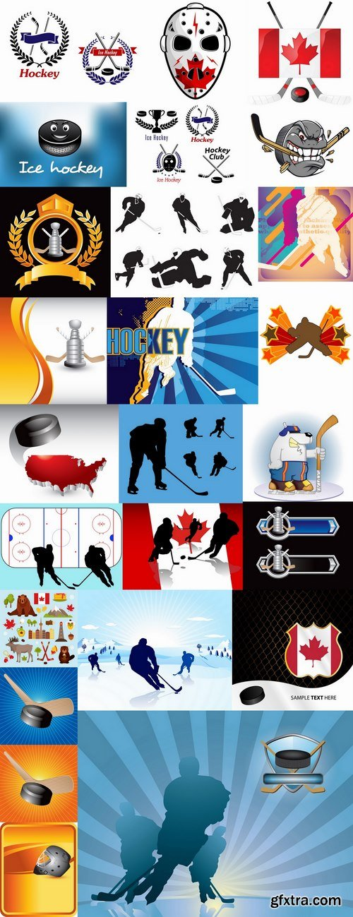 Vector images of hockey 25 Eps