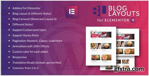 CodeCanyon - Blog Layouts for Elementor WordPress Plugin v1.0 - 24230302