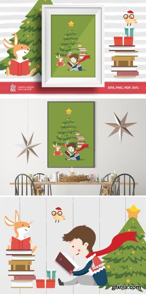 Christmas Card A6 & Vector Elements 1669839