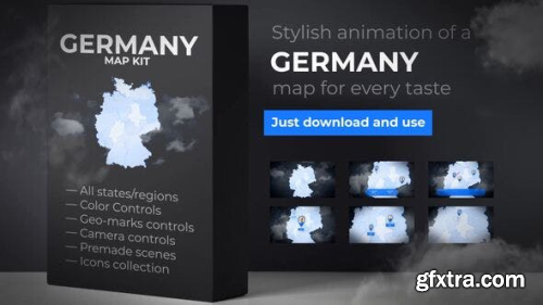 VideoHive Germany Map - Deutschland Map Kit - Federal Republic of Germany Map 24039674