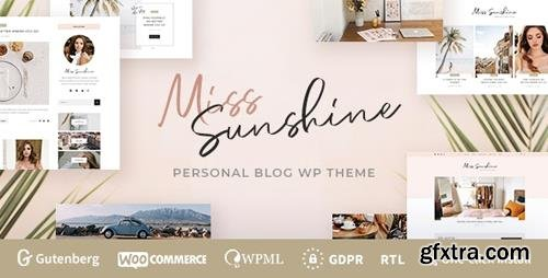ThemeForest - Miss Sunshine v1.0.0 - Lifestyle & Beauty Women Blog - 23840170