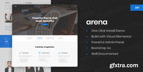 ThemeForest - Arena v1.0.3 - Business & Agency WordPress Theme - 22200950