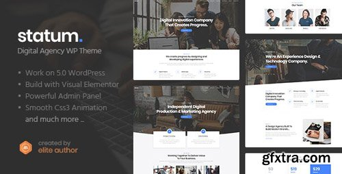ThemeForest - Statum v1.0.1 - Business & Agency WordPress Theme - 23548502