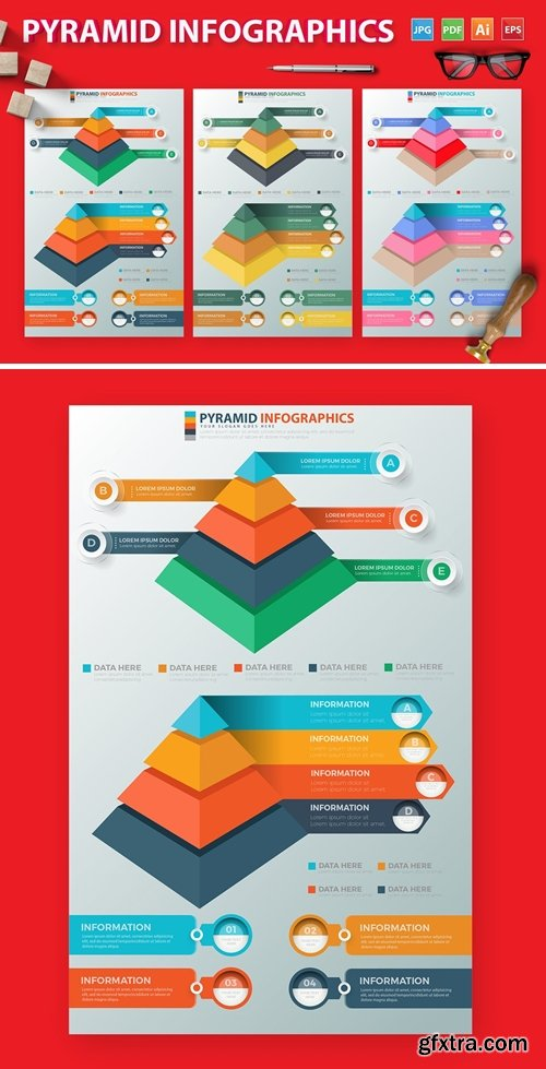Pyramid Infographics Design