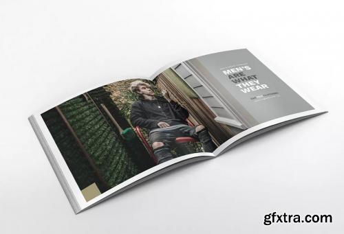 Man Fashion Square Brochure Template