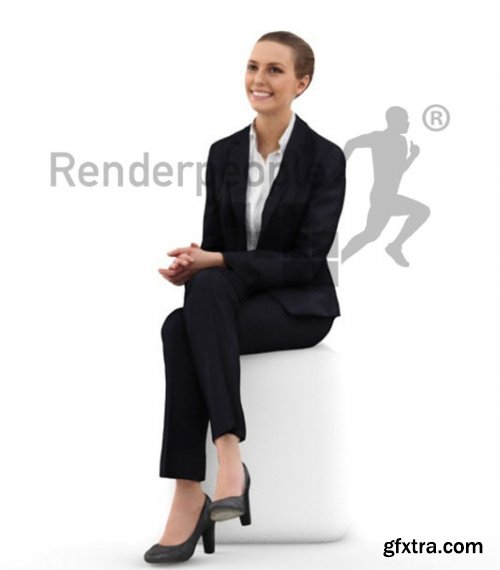 Julia 0280 Smiling Sitting Business Woman