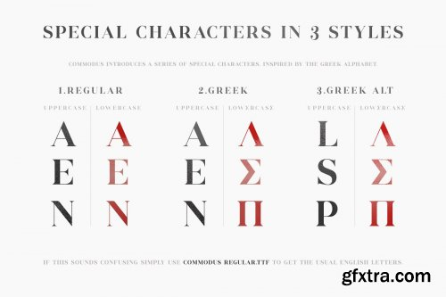 CreativeMarket - Commodus - All Caps Serif Typeface 3943069