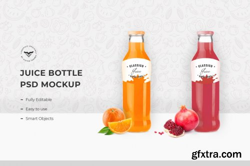 Juice Bottle PSD Mockup Template